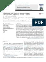 A Longitudinal Study of Mercury Exposure Associated