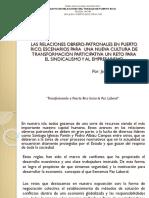Ponencia Presidente Lcdo Jeffry Perez Caban 5to Congreso Laboral