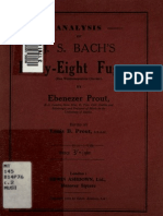 Prout, Analysis of Bach's Fugues from WTC