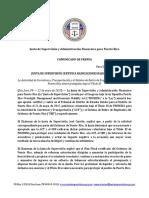 Comunicado Público Sobre La Radicación de Título III Para ACT y SRE SISTEMA DE RETIRO EMPLEADOS PUBLICOS