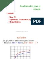 5.1 Logaritmos Ecuaciones Exponenciales y Logarítmicas(2)