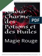 180 encantos de amor, poções e óleos - magia vermelha (em francês)