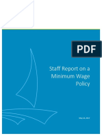 Staff Report on Minimum Wage Policy