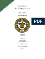 Functional Design Document