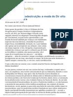 ConJur - Ceticismo e Autodestruição_ a Moda Do Direito Retrô à Brasileira