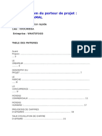 Nom & Prénom Du Porteur de Projet DAHMANI KAMAL