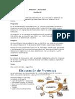 Elaboracion de Proyecto Resumen