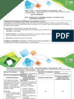 4.Guía de Actividades y Rúbrica de Evaluación - Tarea 4. Analizar e Interiorizar Las Actividades Propias y Su Relación Con La Problemática Ambiental