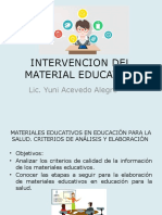 Intervencion Del Material Educativo