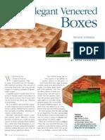 Elegant Veneered Boxes