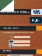 6.2.3 Relaciones Publicas