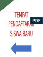 TEMPAT PENDAFTARAN