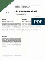 Lec 1 Que Es La Biodiversidad