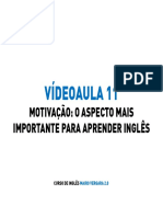 M05V11 - Motivação - O aspecto mais importante para aprender inglês - SLIDES