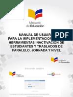 Manual de Usuario Desactivacion Estudiantes Traslado Jornada