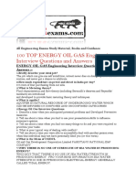 100 TOP ENERGY OIL GAS Engineering Interview Questions and Answers