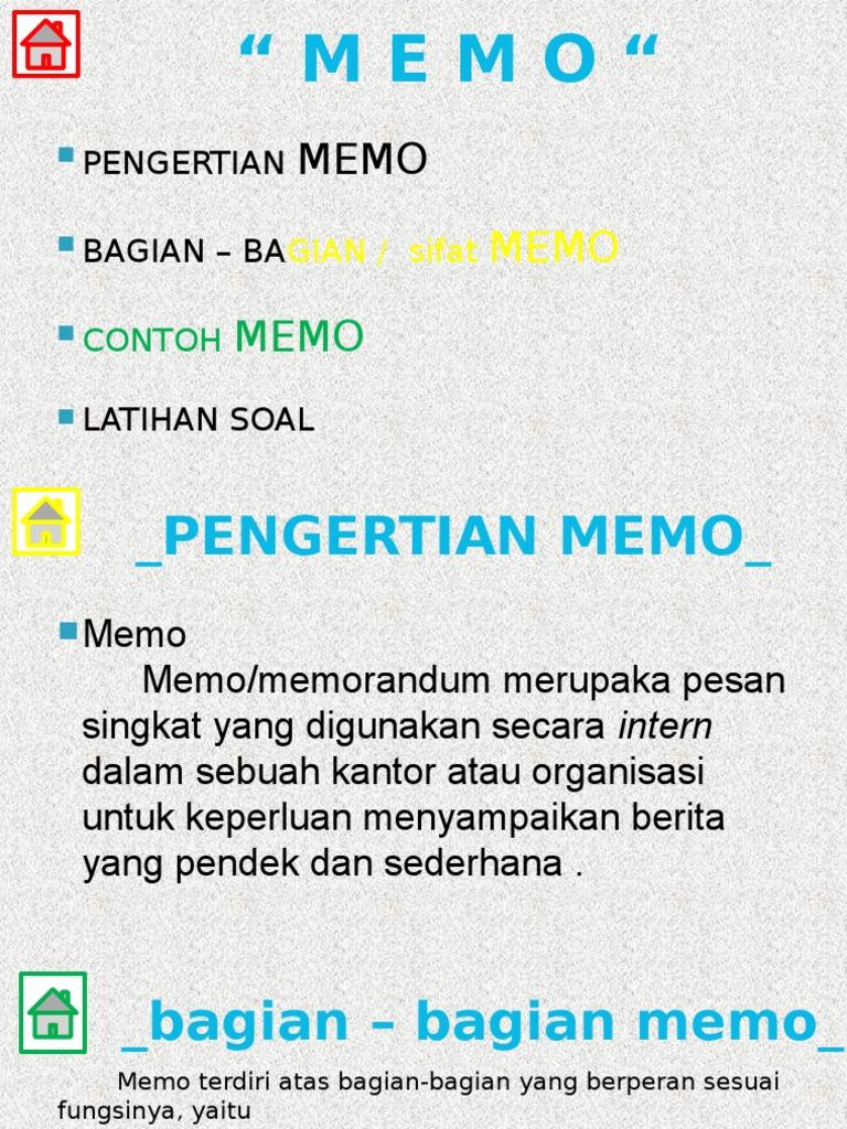 Memo Xi Smk