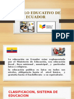 Modelo Educativo de Ecuador Diapo