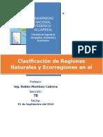 Clasificación de Regiones Naturales y Ecorregiones en el Departamento de Arequipa.docx