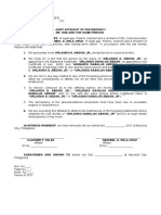 Joint Affidavit of Discrepancy sample