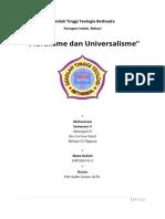 Pluralisme & Universalisme
