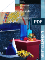 Lightolier Calculite HID Downlighting Catalog 1993