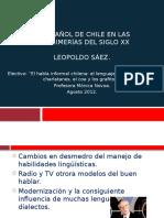 El Español de Chile en Las Postrimerías