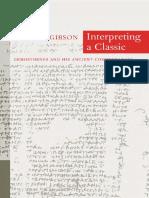 Interpreting a Classic Demosthenes and His Ancient Commentators