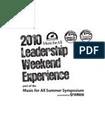 MfA Leadership Experience
