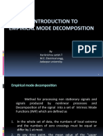 EMPIRICAL MODE DECOMPOSITION  AN INTRODUCTION