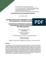Liderazgo Instruccional y Distribuído en Espacios Virtuales