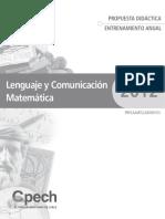 Propuesta Didactica Entrenamiento LC-MT