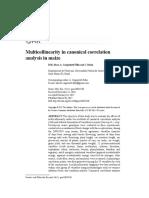 Art [AlvesBM CargneluttiFilhoA BurinC 2017] Multicollinearity in Canonical Correlation