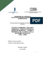 Politca Cambiaria y Balanza Comercial Comprob Teoria ML