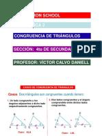 Congruencia de Triángulos - 4to