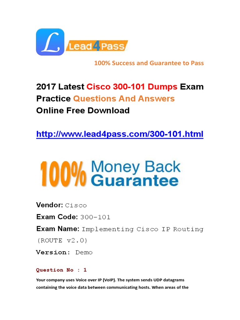 Latest Cisco 300-101 Dumps Exam Questions and Answers Free