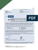 AREVA P632 Certificate