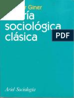 Teoria Sociologica Clasica Salvador Giner .
