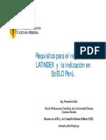 10 Requisitos LATINDEX e Indizacion en SciELO