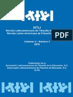 Revista Latinoamericana de Filosofía de La Educacion Arte y Filosofía