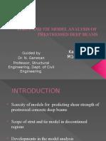 Strut and Tie Model Analysis of Prestressed Deep beams