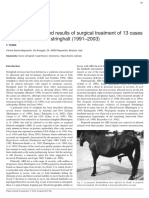 Clinical Diagnosis and Results of Surgical Treatment of 13 Cases