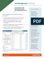 Laserfiche Records Management Factsheet