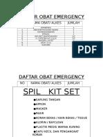 Daftar Obat Emergency
