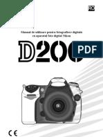 Manual de Utilizare Nikon D200