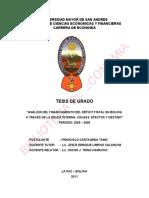 Tesis Análise Da Déficit Fiscal Financiamento Na Bolívia Através Da Dívida Interna Causas, Efeitos e Fate -1290