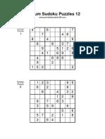 Medium Sudoku 012