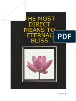 The Most Rapid and Direct Means to Eternal Bliss