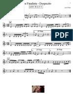 Sou finalista - Despacito - Partitura para Educação Musical
