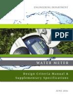 Water Meter Design Criteria Manual